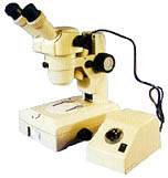 student microscope in wooden box